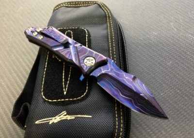 Exilis, Blued Damascus/Marfione Custom
